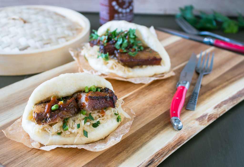 Pork Cheeks and Sauerkraut Bao Buns