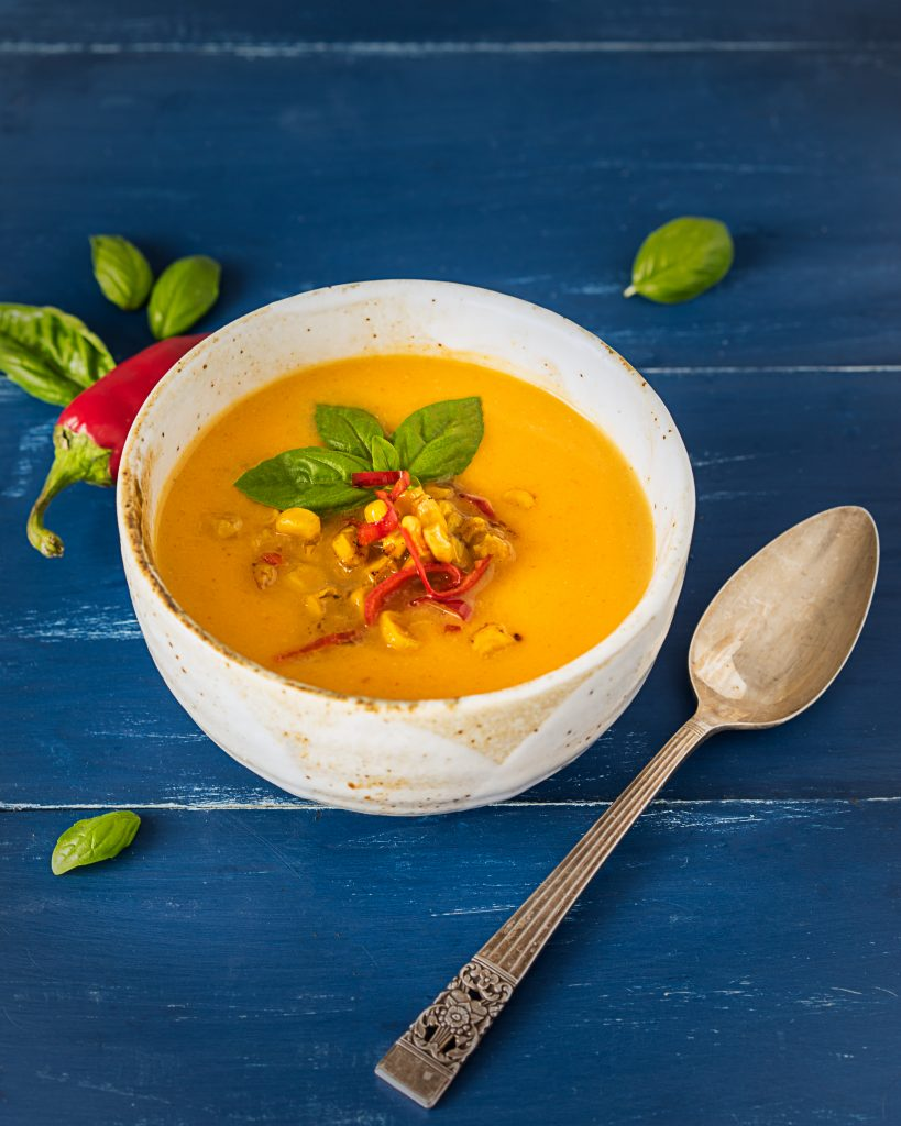 Spicy Butternut Squash Curry Soup