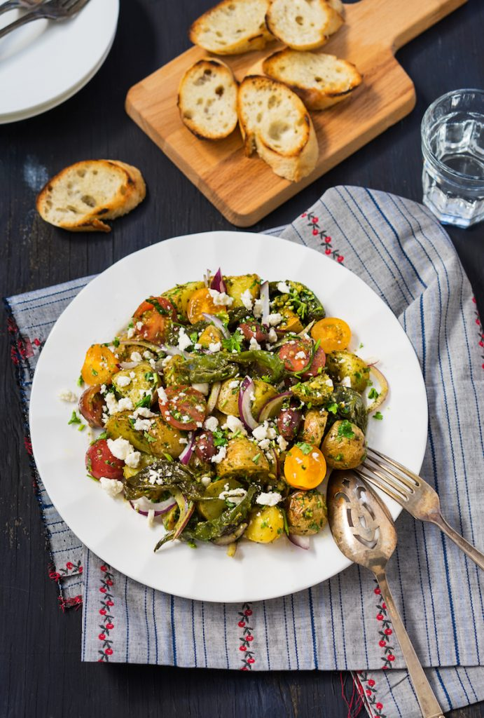 Mediterranean Style Roasted Potato Salad recipe