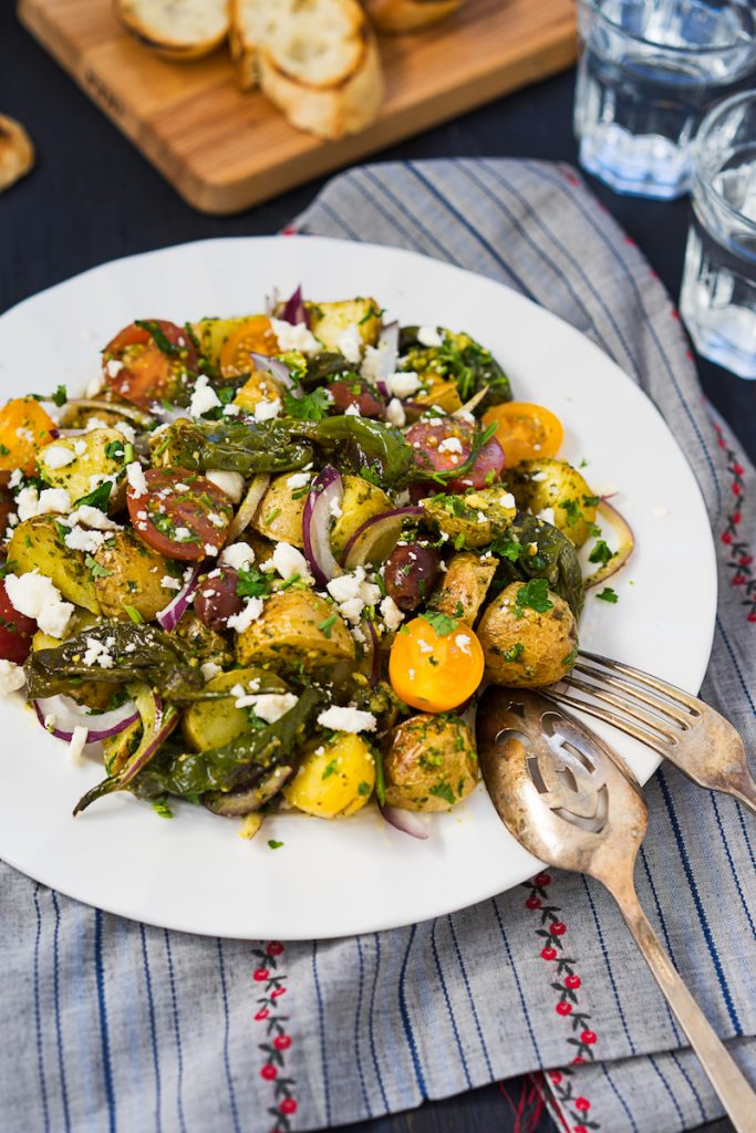 Mediterranean Style Roasted Potato Salad
