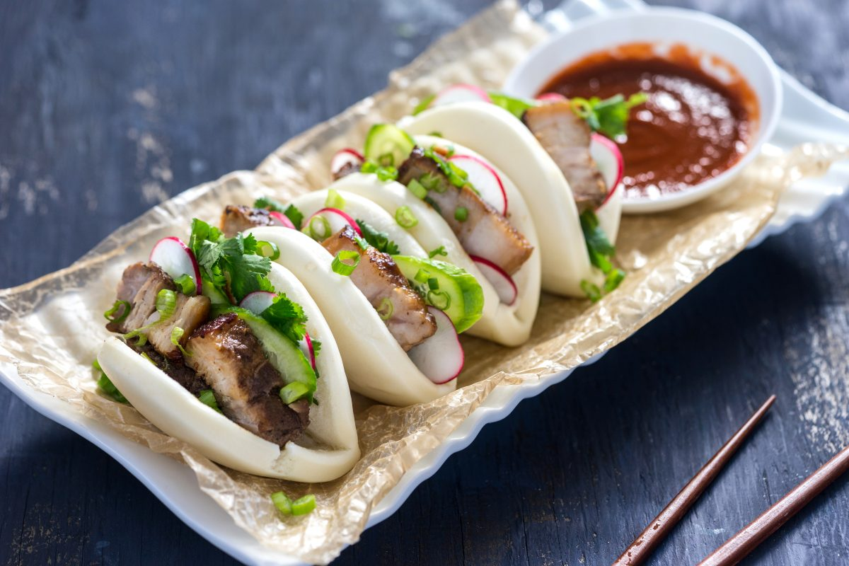 Gua Bao - Taiwanese Pork Belly Steamed Buns